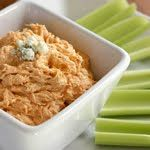 This Skinny Buffalo Chicken Dip was good... except it was SPICY! I used Franks Red Hot (regular)... next time I would add less, or maybe instead find an actual mild wing sauce instead of a straight cayenne pepper sauce =) Still though... YUMMY!