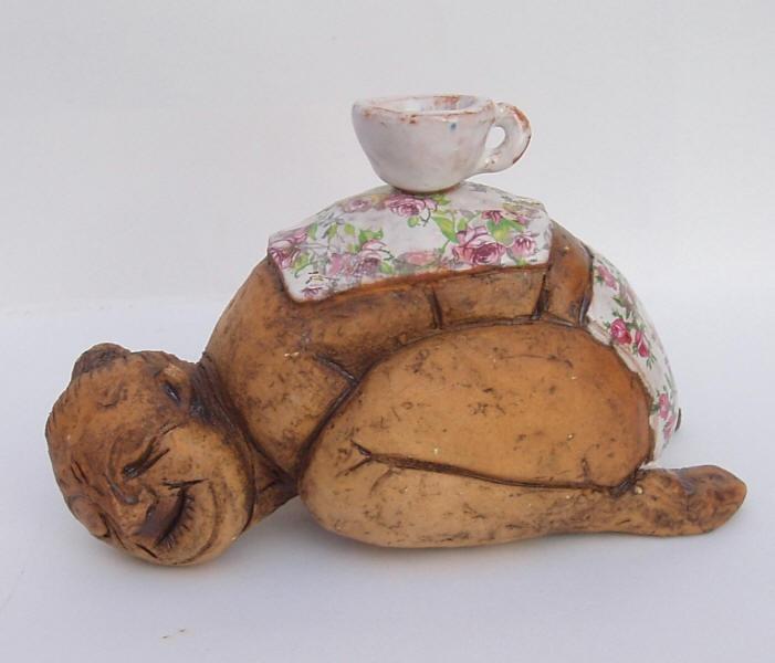 4 o´clock tea, ceramic sculpture Michaela Stejskalova