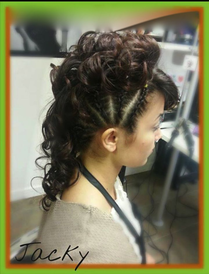 curly updos with braids by jacky