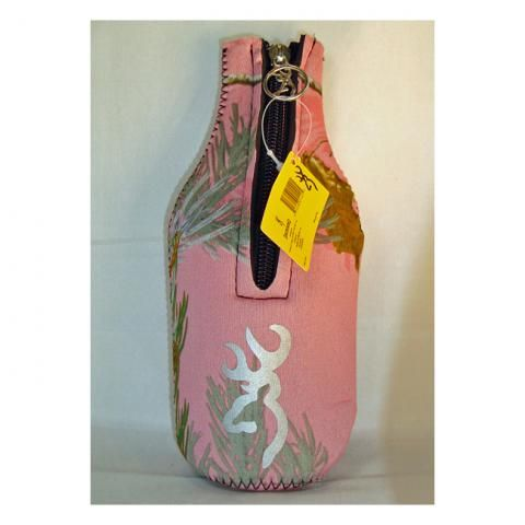 Browning / AP Pink Camo Bottle Coozie