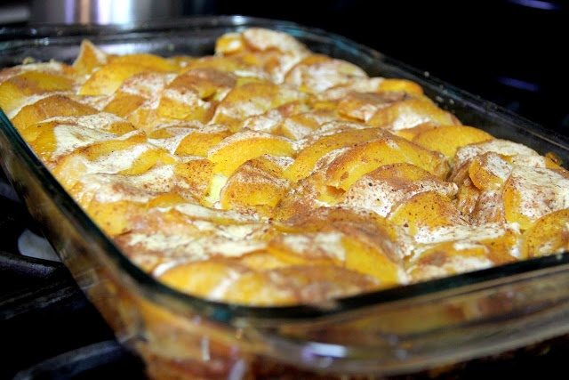 Overnight Peach French Toast- had this for breakfast this morning :)