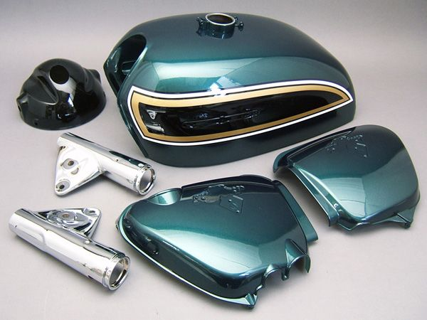 CB750 K4 PAINTED BODY SET (FREEDOM GREEN METALLIC) [G006FG] - 120,000 JPY(1025.05 USD) : HONDA CB750 Four K-series motorcycle parts store MOTORCYCLE YAMIYA