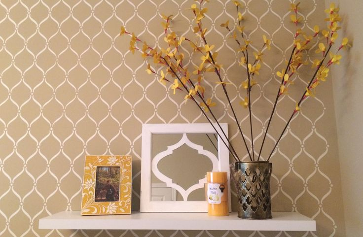 Wall stenciling - 15 Unique Wall Painting Ideas | www.homeology.co.za     #decor #interiors #upcycle #renovate #homedecor #beautifulhome #painting #inspiration