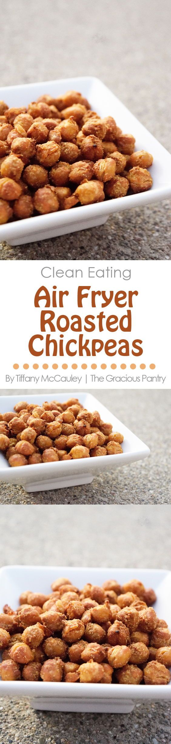 Clean Eating Recipes | Air Fryer Recipes | Air Fryer Roasted Chickpeas Recipe #Clean Eating #EatClean #AirFryerRecipe