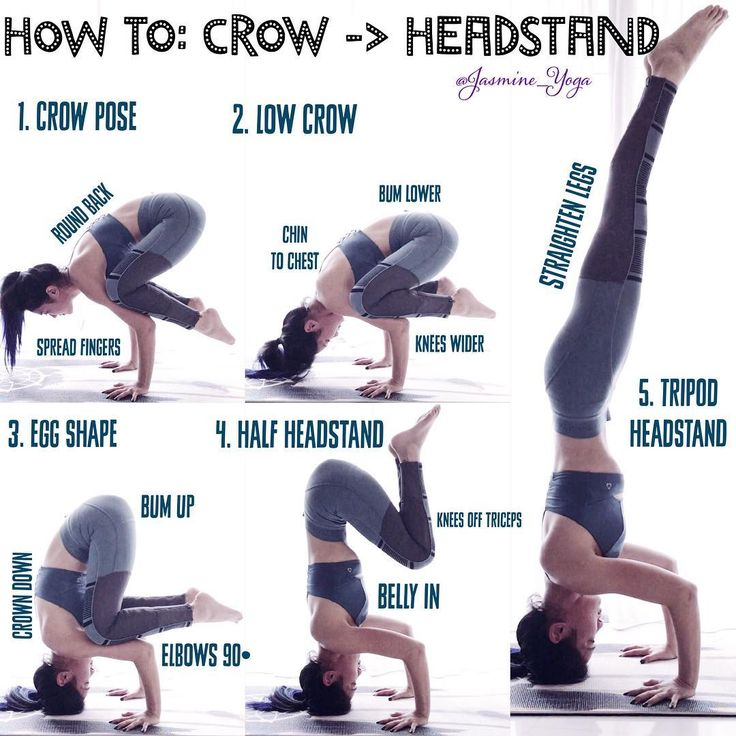 #jasmineyogatutorial : #Crow to #Headstand Going from crow ...