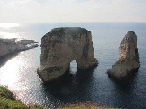Pigeons Rock at Raouche - Beirut Lebanon / been there, done that, wanna go again