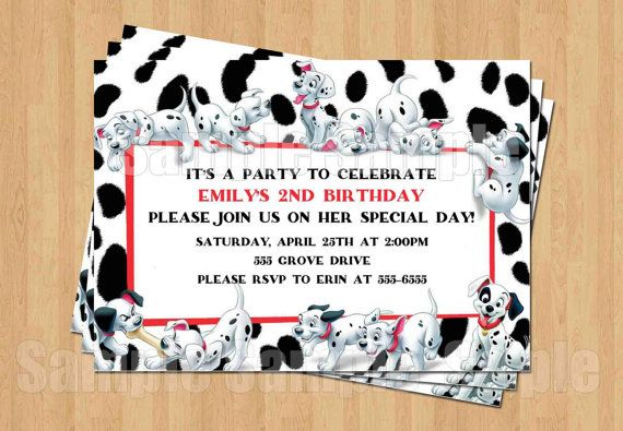 101 Dalmations Birthday Party Personalized by my3sweetcheeks, $10.00