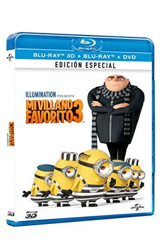 Mi Villano Favorito 3 (Despicable Me 3) BLU-RAY 3D  BLU-RAY  DVD (English Spanish & Portuguese Audio & Subtitles) IMPORT