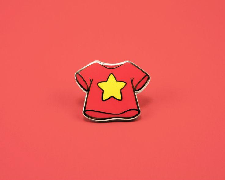 Steven's T-Shirt Enamel Pin by neatosupplyco on Etsy https://www.etsy.com/listing/457671478/stevens-t-shirt-enamel-pin
