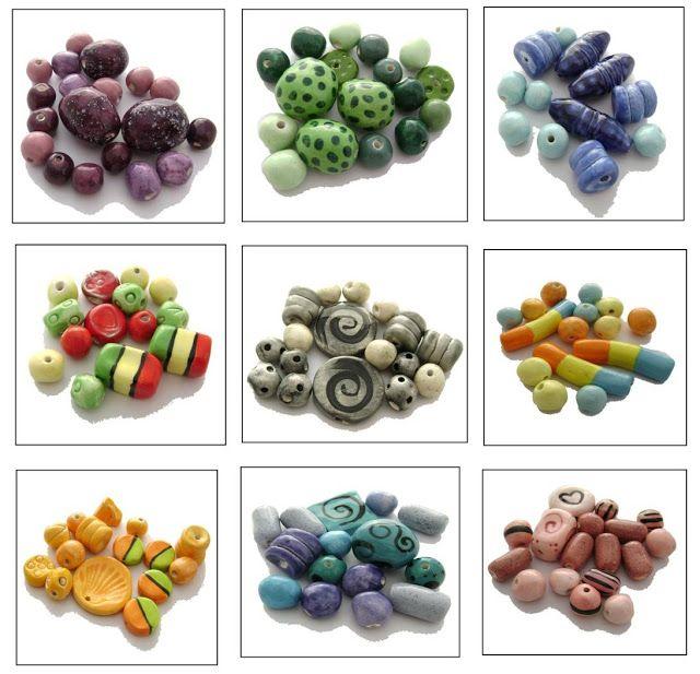 Art by Jen G: SETS of handmade ceramic beads