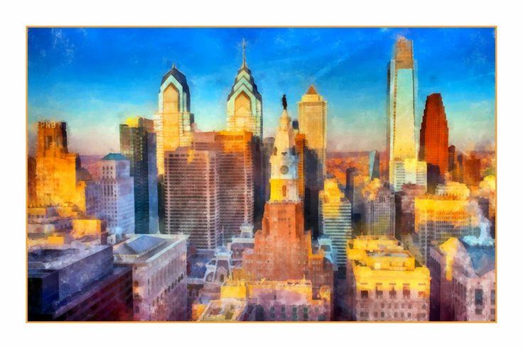 Drawing Of Philadelphia Skyline Philadelphia Skyline By