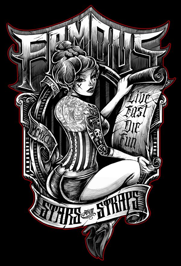 FAMOUS STARS N STRAPS by Dayne Henry Jr, via Behance