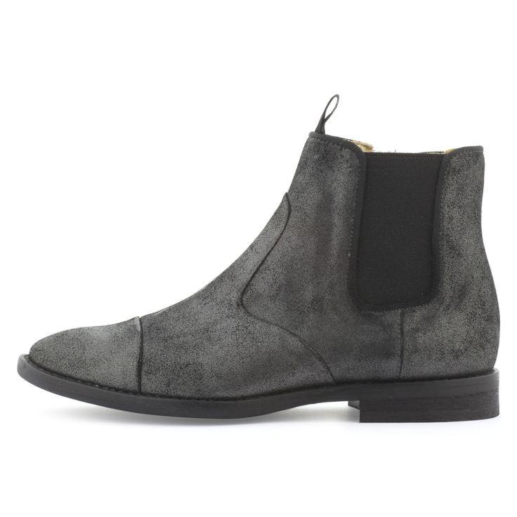 Pom d'Api Boots en cuir noir Noir