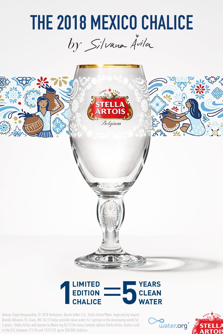663 million people lack access to clean water in the developing world. But you can help. Designed by local artist Silvana Ávila, each limited-edition Mexico Chalice purchased will provide 5 years of clean water to someone who needs it in the developing world. Join us in ending the global water crisis today. #1Chalice5Years