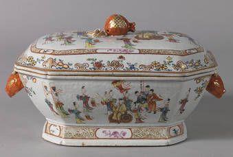 """""""Sopera de porcelana china. Compañía de las Indias."""", Anónimo (primera mitad s. XVIII)"""