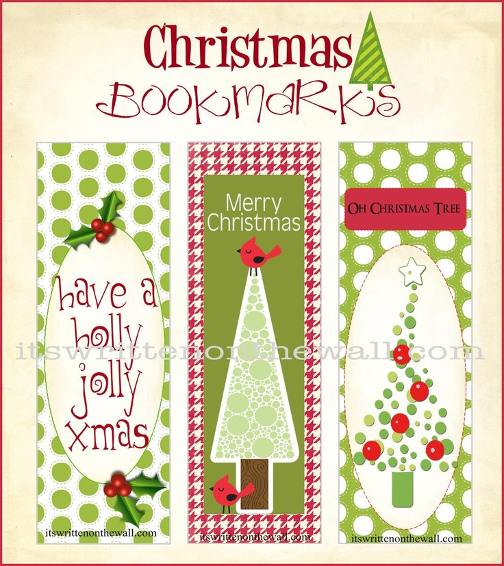 119 best Bookmark Mania images on Pinterest Book markers - christmas bookmark templates