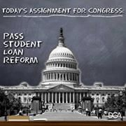 Senate Faces July 1 Deadline for Student-Loan Reform  Over 7 million college students will see their subsidized student-loan rates double on July 1 if Congress can't reach a compromise to avert the hike. In the meantime, House Republicans — having acted first this time — are using the issue to bludgeon Democrats.   Read More! http://swampland.time.com/2013/06/25/senate-faces-deadline-for-student-loan-reform/