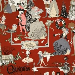 Alexander Henry - A Ghastlie Holiday Blood Red - cotton fabric