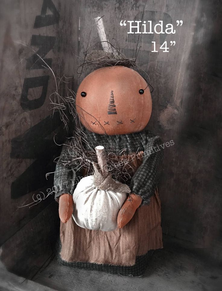 A personal favorite from my Etsy shop https://www.etsy.com/listing/526261677/hilda-primitive-pumpkin-doll-pattern