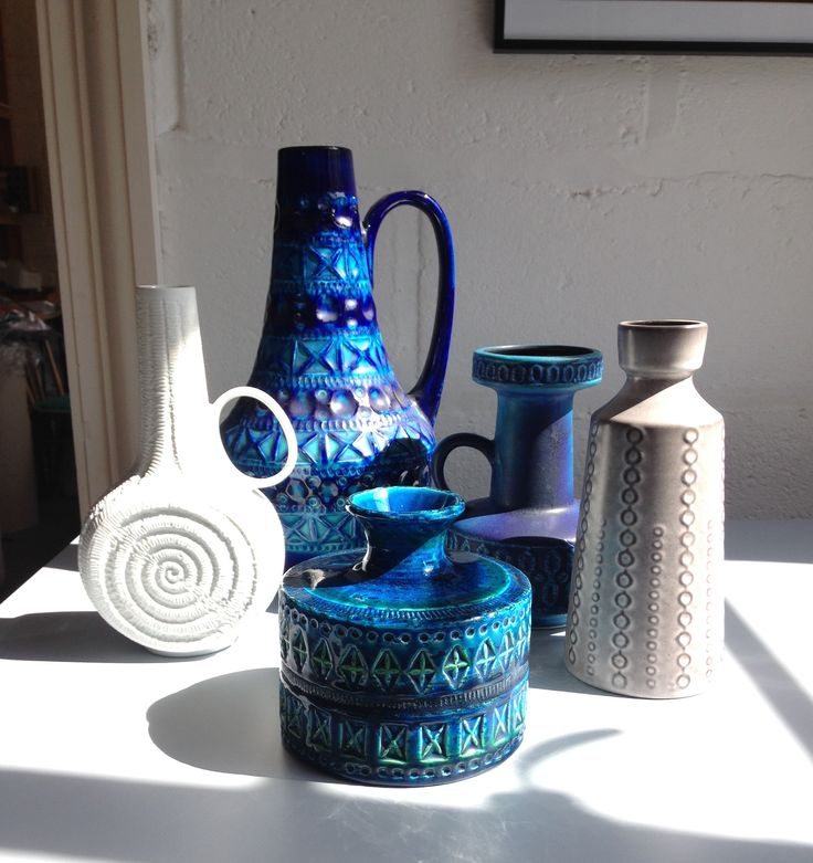 West German and Bitossi pots in the sunshine