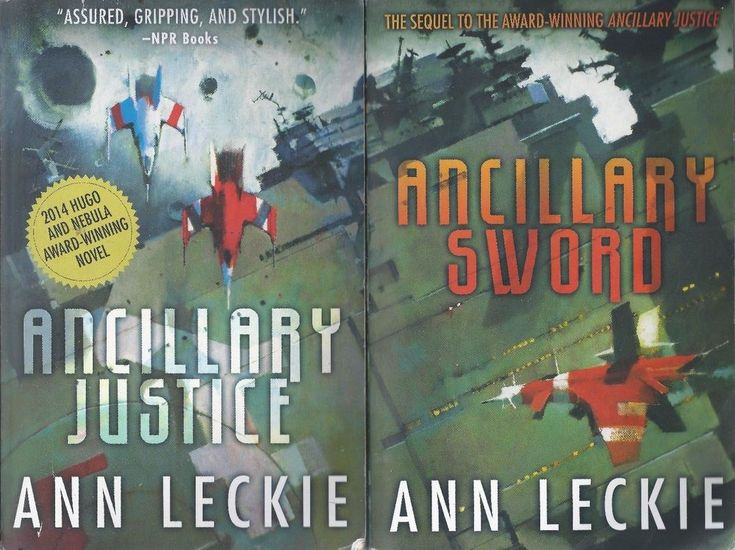 Ann Leckie X2 Ancillary Justice & Sword pb lot science fiction
