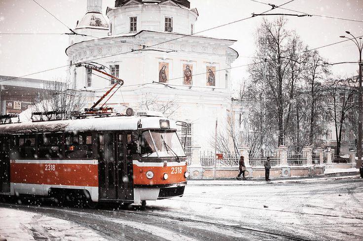 Moscow Tram. Snowy Days In Moscow by Jenny Rainbow