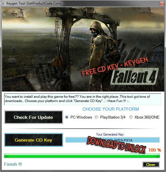 how to get more code fallout 4
