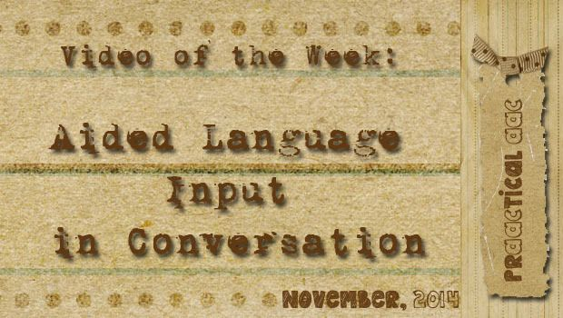 Video of the Week: Aided Language Input in Conversation - Today, the AAC Chicks from Dynamic Therapy Assoiates are back with another prAACtical video about using aided language input in conversation.