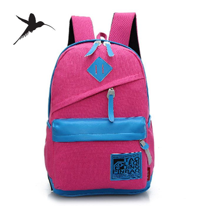 2016 холст женщины школьные рюкзаки мода корейские рюкзаки для девочек-подростков парни школьный рюкзак Mochilas рюкзаки M79