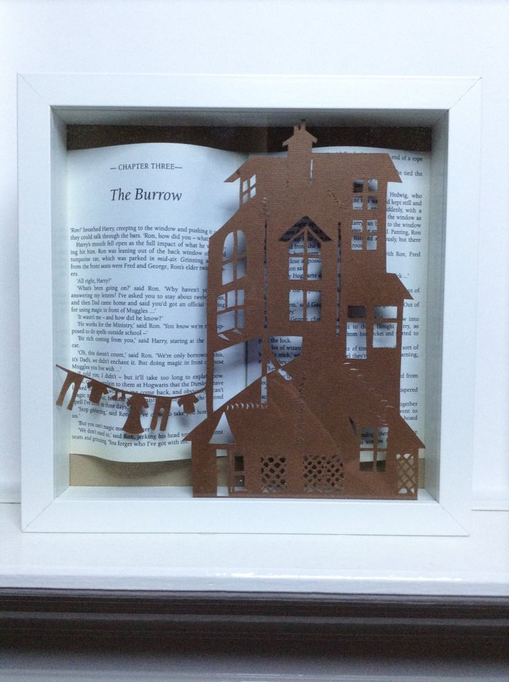 The Burrow - Harry Potter framed art paper cutting - Harry Potter gift - Book lovers present by PaversPaper on Etsy