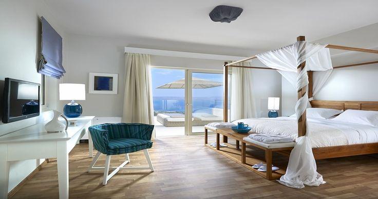 "Discover Villa ""Apoi"", Crete, Greece ! You can rent it ! #luxury #villa #rent #holidays #greece #vacances #grece #alouer #aroomwithaview #sea #bedroom #decoration #swimmingpool #beautiful #sunset #luxuryvilla"