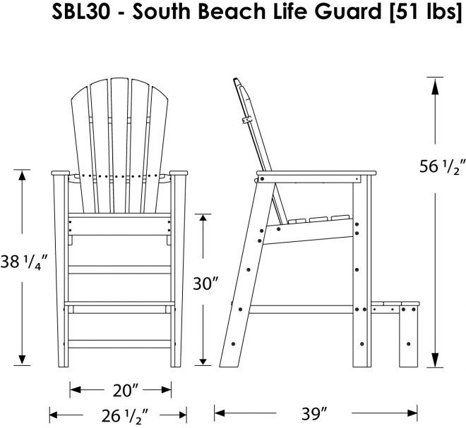 Lifeguard chair plans the correct method to select the for Affordable furniture grants pass oregon