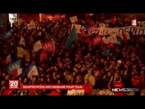 La Politique Manifestation monstre contre le mariage gay devant France Télévisions - http://pouvoirpolitique.com/manifestation-monstre-contre-le-mariage-gay-devant-france-televisions/