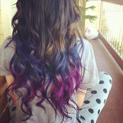 ondas con puntas de colores   Cabellos De Colores ...