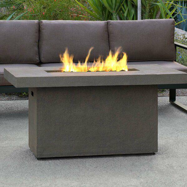 Ventura Concrete Propane Gas Fire Pit Table In 2020 Gas Fire Pit Table Fire Pit Table Propane Fire Pit Table