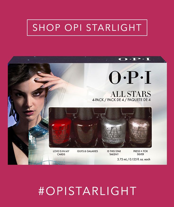 Shop the Gift: OPI All Stars 4 Pc Mini Kit // Our favorite 4 shades from our Holiday Collection, in adorable mini bottles perfect for Secret Santa or stocking stuffers!