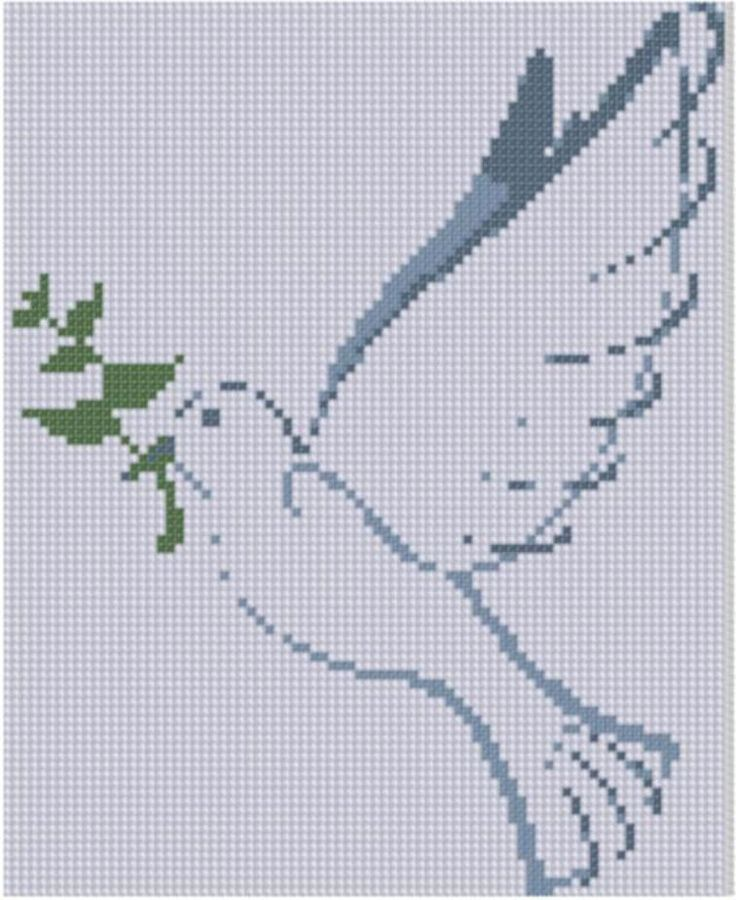 Peace Dove Cross Stitch Pattern  | Craftsy