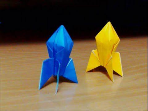 ハート 折り紙 折り紙ロケットの折り方 : jp.pinterest.com