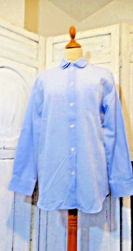 Chemise femme neuve JODHPUR Galeries Lafayette double col Claudine bleu 42   Chemises 924911c8c7bc