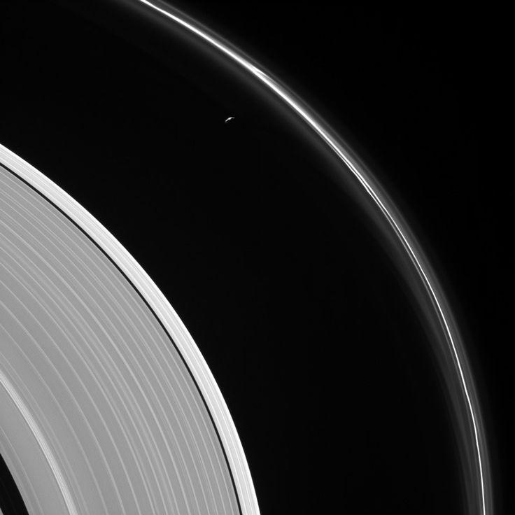 Prometheus and Saturn's rings