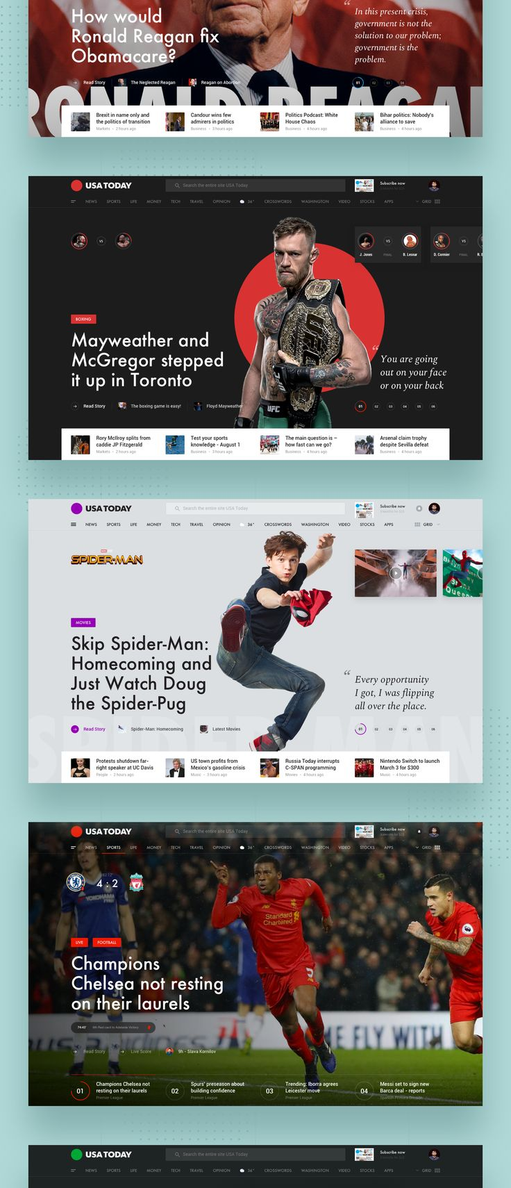 USA Today Redesign concept on Behance