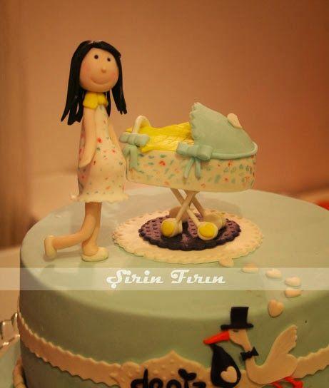 baby shower cake, it's a boy cake , baby shower pastası , erkek bebek pastası
