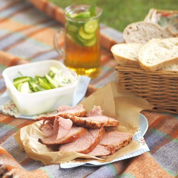 Lemonade Gammon with a Pimms Glaze