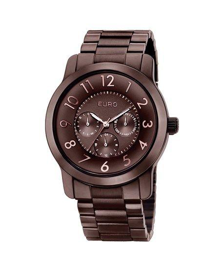 Relógio Feminino Analógico Euro Brande EU6P29AD/4M - Chocolate - euro