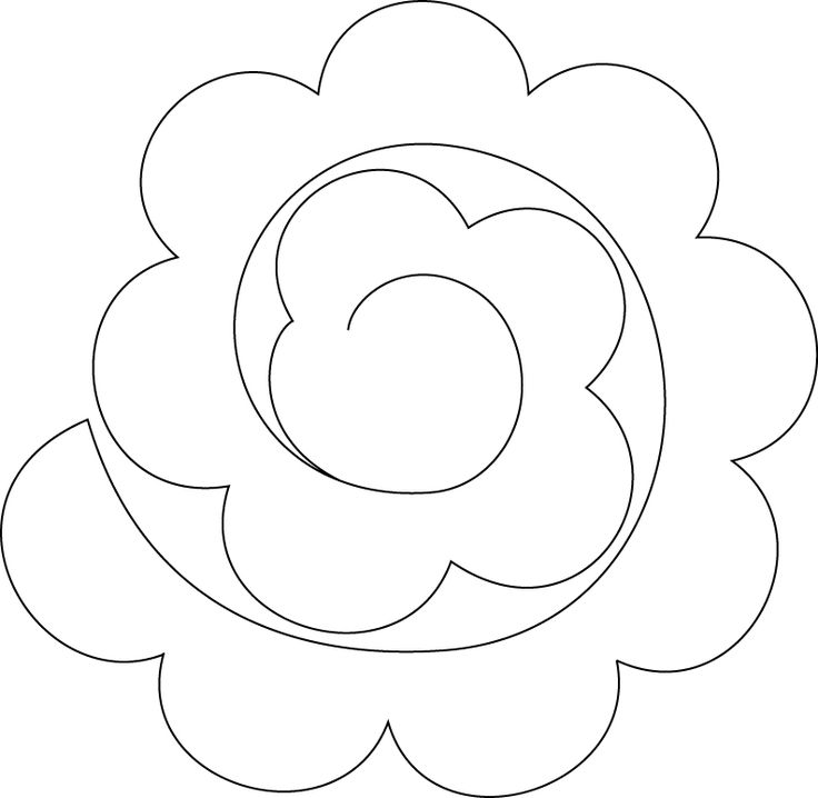 pattern for felt rose