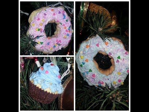 DIY Cupcake & Donut Christmas Ornaments⛄ - YouTube