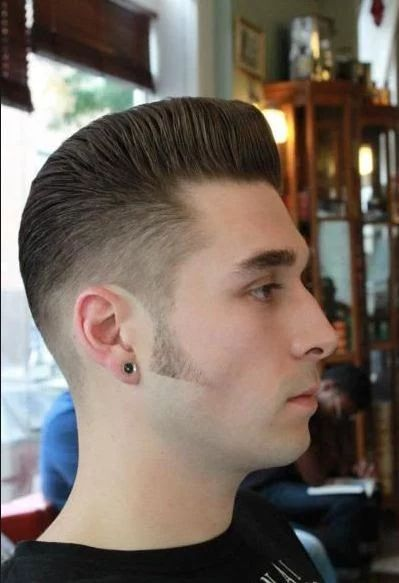 how to cut side burns with beard