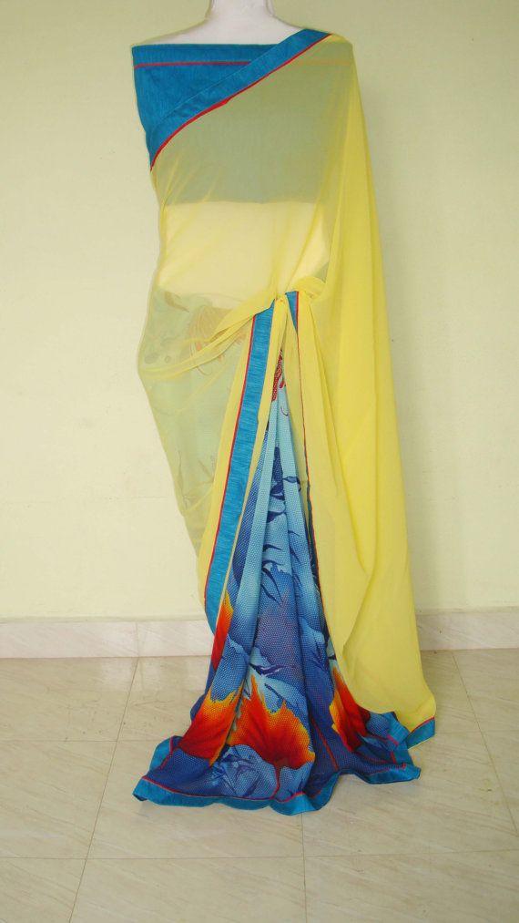 Indian designer saree  /party wear saree /half by SabirCreations