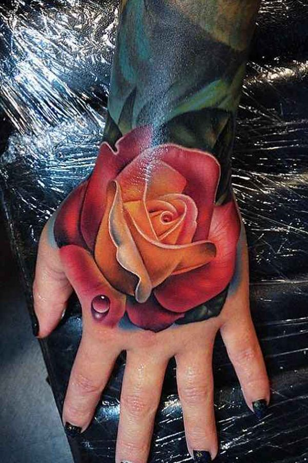 Rose Tattoo For Women Done By Tattoo Artist Andres Acosta