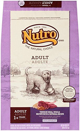 NUTRO NATURAL CHOICE Adult Venison Meal, Whole Brown Rice and Oatmeal Recipe Dog Food 30 Pounds >>> Additional details @ http://www.amazon.com/gp/product/B00111DRFW/?tag=lizloveshoes-20&pmn=270716053910